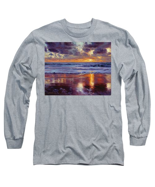 Long Sleeve T-Shirt featuring the painting On The Horizon by Steve Henderson