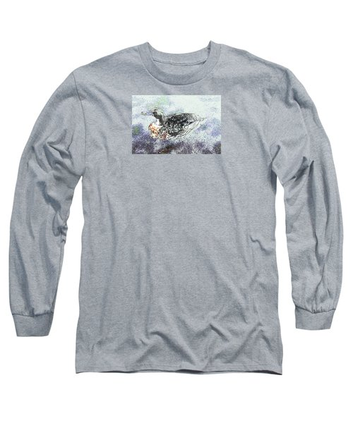 Long Sleeve T-Shirt featuring the photograph On The Pond by Nareeta Martin