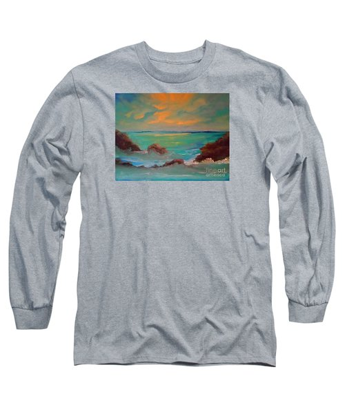 On The Rocks Long Sleeve T-Shirt by Holly Martinson