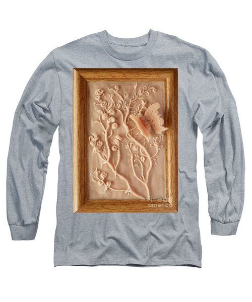 On The Way To Bronze - Alfalfa And Anglewing Long Sleeve T-Shirt by Dawn Senior-Trask