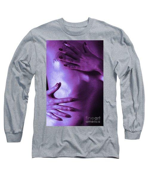 On Tv Long Sleeve T-Shirt by Robert WK Clark