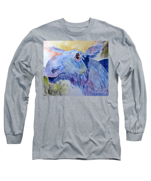 Once In A Blue Moose Long Sleeve T-Shirt by Sandy McIntire
