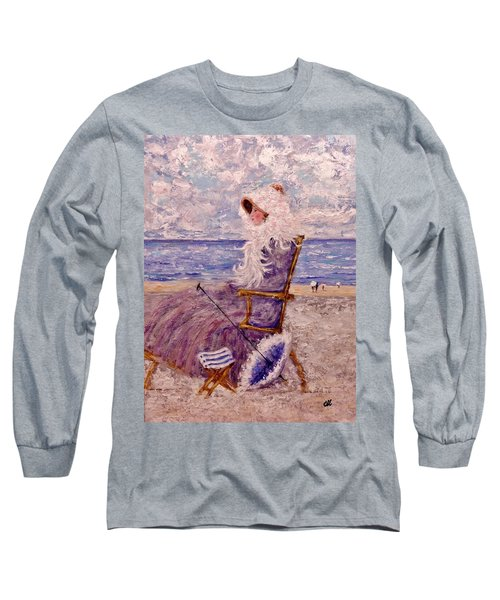 Long Sleeve T-Shirt featuring the painting Once Upon A Time II by Cristina Mihailescu