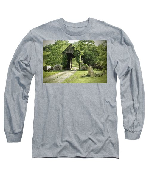 One Lane Covered Bridge Long Sleeve T-Shirt