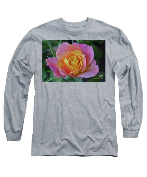 One Of Several Roses Long Sleeve T-Shirt by Debby Pueschel
