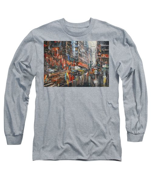 One Rainy Evening Long Sleeve T-Shirt
