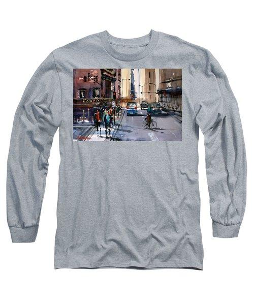 One Way Street - Chicago Long Sleeve T-Shirt by Ryan Radke