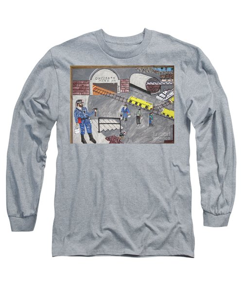 Long Sleeve T-Shirt featuring the painting Onieda Coal Mine by Jeffrey Koss