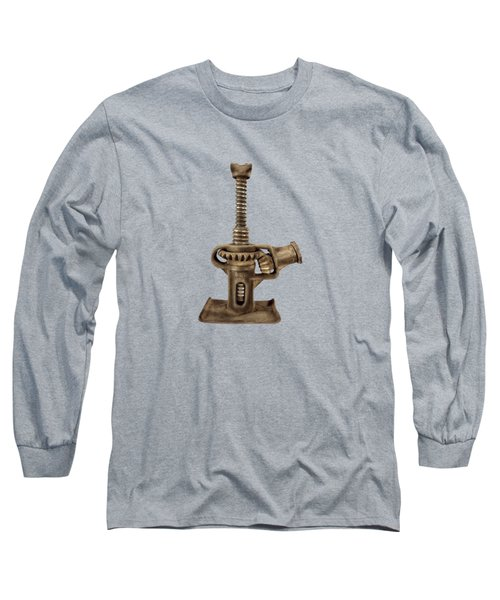 Open Gear Screw Jack I Long Sleeve T-Shirt