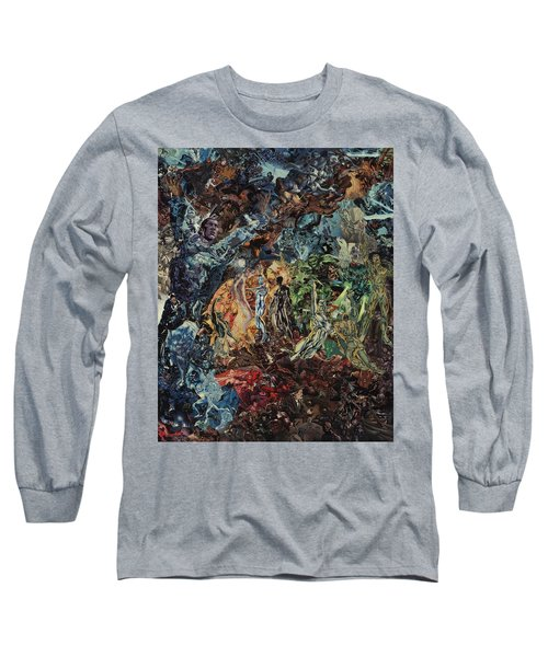 Opening Of The Fifth Seal After El Greco Long Sleeve T-Shirt by Joshua Redman