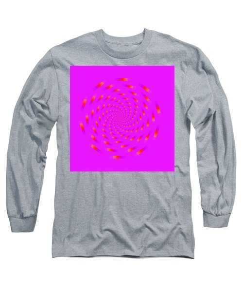 Optical Illusion Spinning Circle Long Sleeve T-Shirt