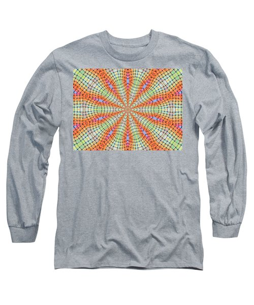 Long Sleeve T-Shirt featuring the digital art Orange And Green by Elizabeth Lock