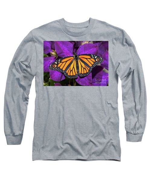 Orange On Purple Long Sleeve T-Shirt