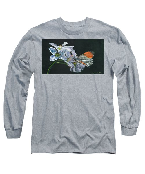 Orange Tip  Long Sleeve T-Shirt