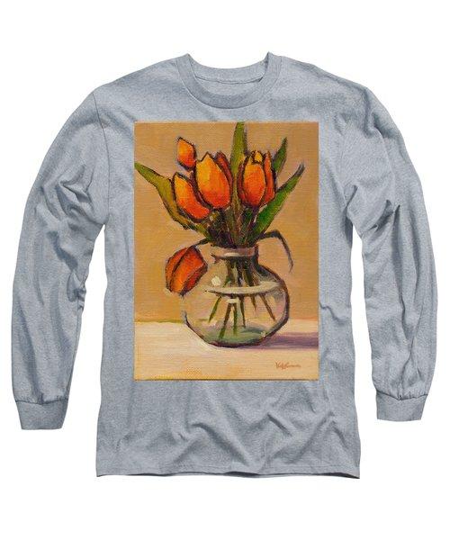 Orange Tulips Long Sleeve T-Shirt