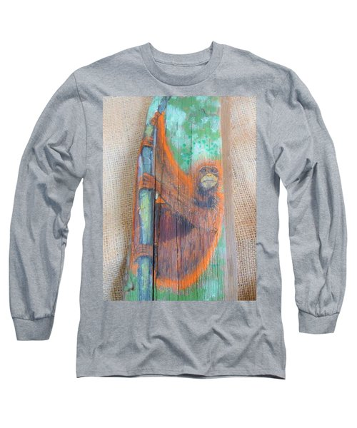 Orangutan Long Sleeve T-Shirt by Ann Michelle Swadener
