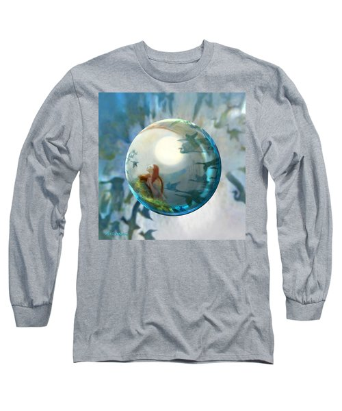 Long Sleeve T-Shirt featuring the painting Orbital Flight by Robin Moline