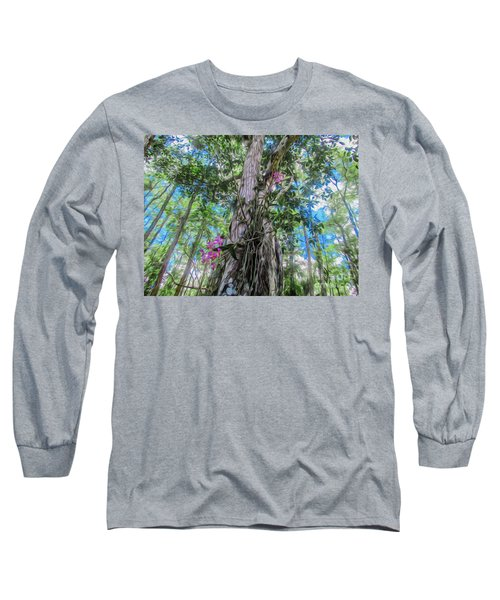 Orchids In A Tree Long Sleeve T-Shirt