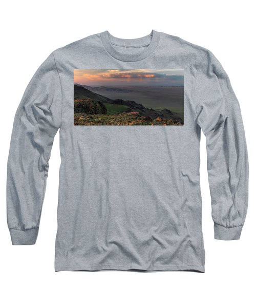 Long Sleeve T-Shirt featuring the photograph Oregon Canyon Mountain Views by Leland D Howard