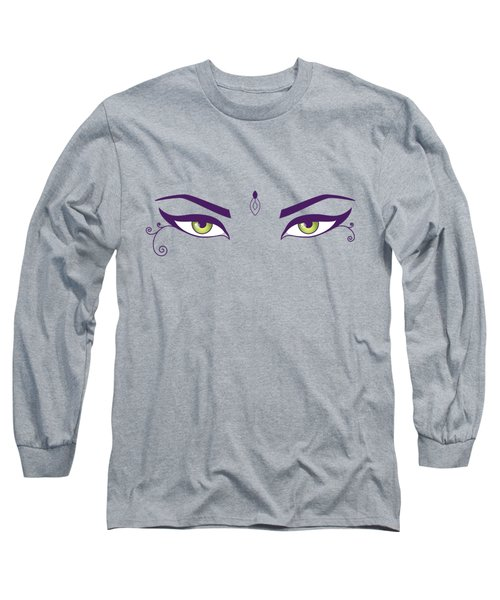 Oriental Dancer With Green Eyes Long Sleeve T-Shirt