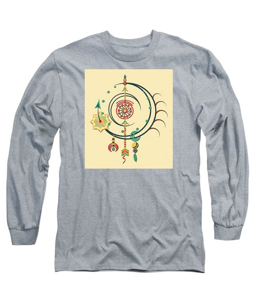 Ornament Variation Three Long Sleeve T-Shirt by Deborah Smith