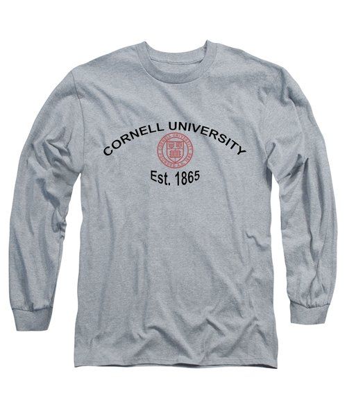 Long Sleeve T-Shirt featuring the digital art ornell University Est 1865 by Movie Poster Prints