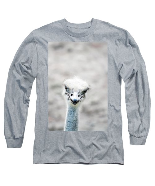 Ostrich Long Sleeve T-Shirt by Lauren Mancke