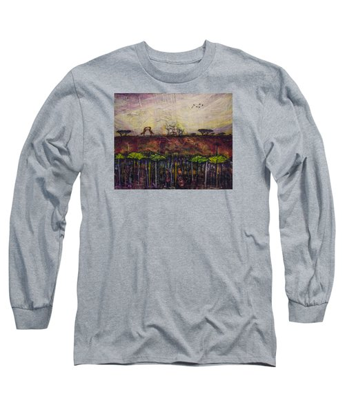 Other World 4 Long Sleeve T-Shirt by Ron Richard Baviello