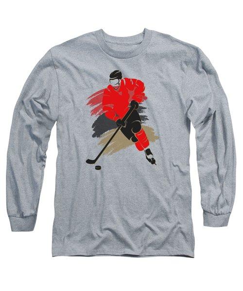 Ottawa Senators Player Shirt Long Sleeve T-Shirt by Joe Hamilton