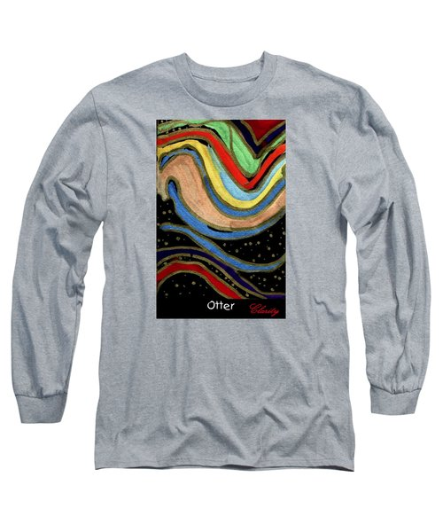 Long Sleeve T-Shirt featuring the painting Otter by Clarity Artists