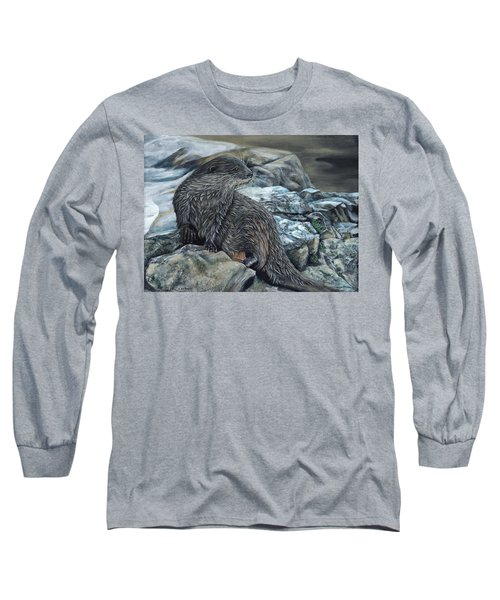 Otter On Rocks Long Sleeve T-Shirt