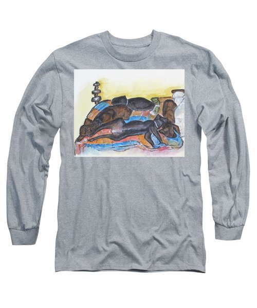 Our Bed Now Long Sleeve T-Shirt by Clyde J Kell