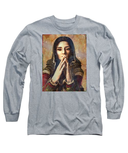 Long Sleeve T-Shirt featuring the painting Our Lady Of Guadalupe by Suzanne Silvir