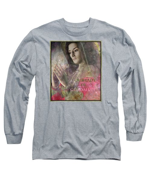 Long Sleeve T-Shirt featuring the painting Our Lady by Suzanne Silvir