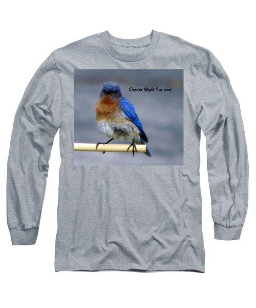 Our Own Mad Blue Bird Long Sleeve T-Shirt
