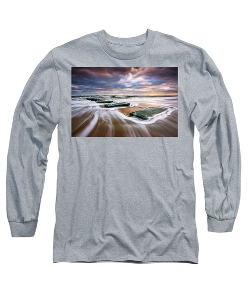 Outer Banks North Carolina Beach Sunrise Seascape Photography Obx Nags Head Nc Long Sleeve T-Shirt