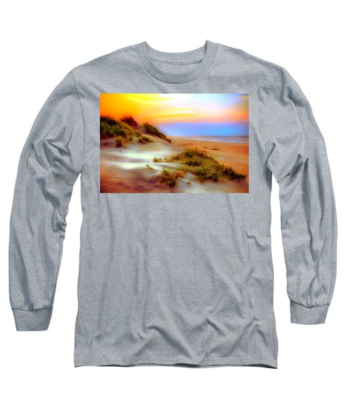 Outer Banks Soft Dune Sunrise Ap Long Sleeve T-Shirt by Dan Carmichael