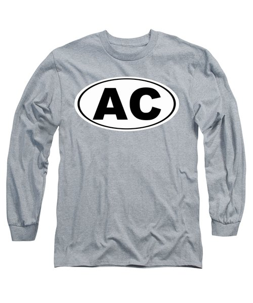 Long Sleeve T-Shirt featuring the photograph Oval Ac Atlantic City New Jersey Home Pride by Keith Webber Jr