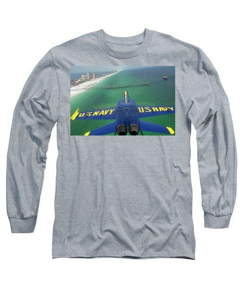 Over Pensacola Beach Long Sleeve T-Shirt