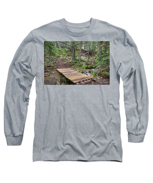 Long Sleeve T-Shirt featuring the photograph Over The Bridge And Through The Woods by James BO Insogna