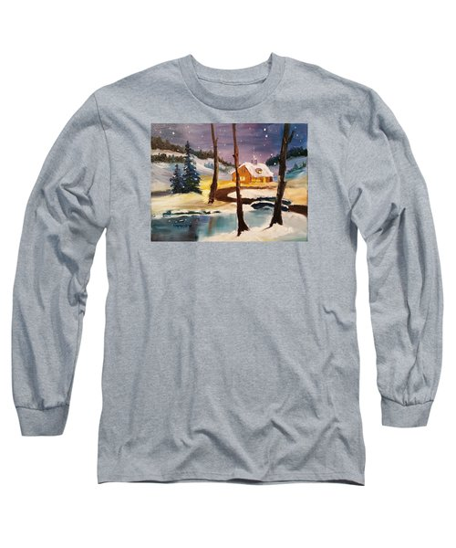 Over The River Long Sleeve T-Shirt by Larry Hamilton