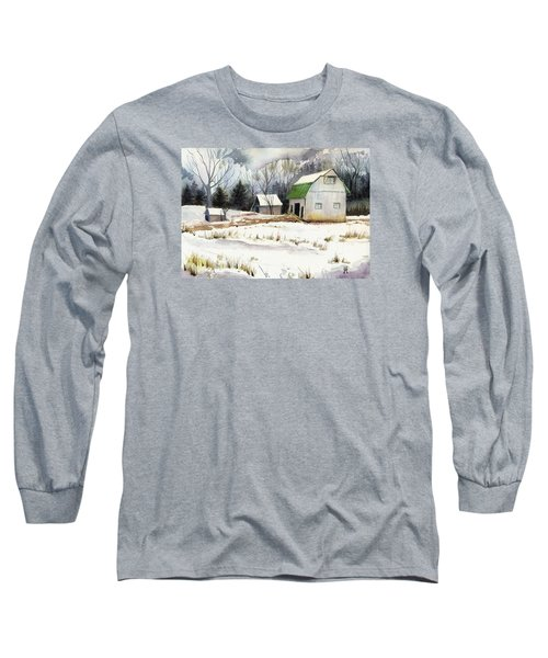 Long Sleeve T-Shirt featuring the painting Owen County Winter by Katherine Miller
