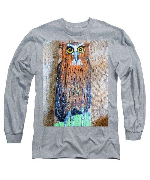 Owl Long Sleeve T-Shirt by Ann Michelle Swadener