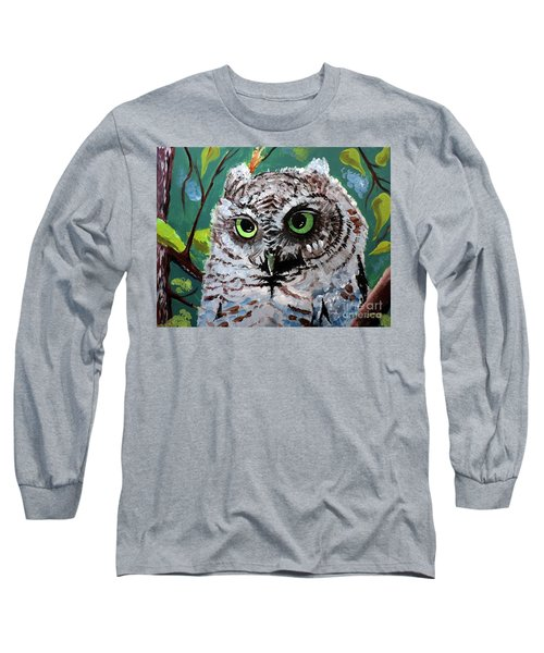 Owl Be Seeing You Long Sleeve T-Shirt by Tom Riggs