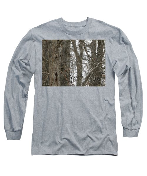 Owl In Camouflage Long Sleeve T-Shirt