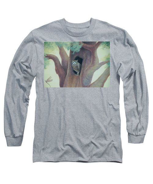 Owl In Tree Long Sleeve T-Shirt