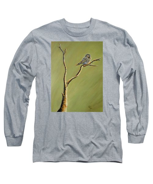 Owl On A Branch Long Sleeve T-Shirt