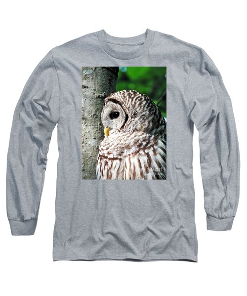Owl Profile Long Sleeve T-Shirt by Christy Ricafrente