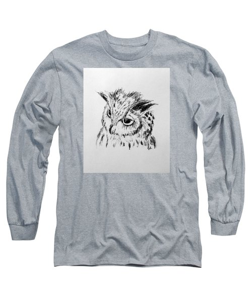 Owl Study Long Sleeve T-Shirt by Victoria Lakes