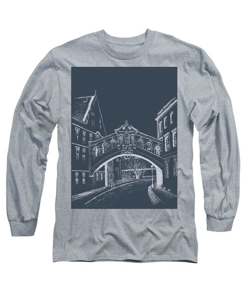 Long Sleeve T-Shirt featuring the digital art Oxford At Night by Elizabeth Lock